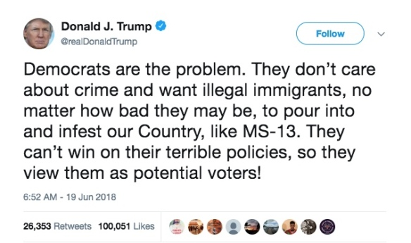 Trump Tweet MS-13