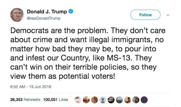 Trump Tweet MS-13